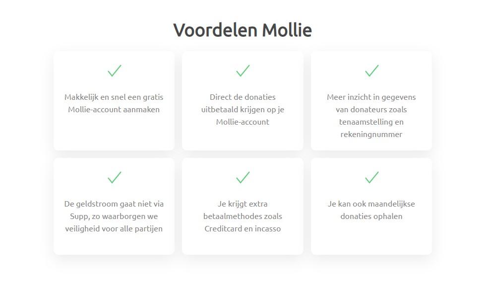Voordelen betaalverwerker Mollie koppelen